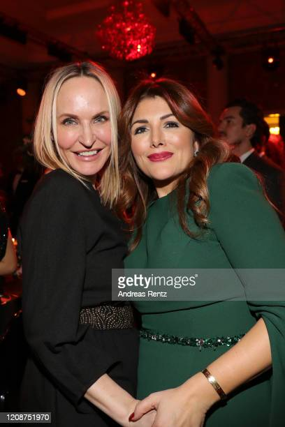 Anne Meyer-Minnemann and Sedef Ayguen attend the Titanic United Hearts gala at Titanic Hotel on February 25, 2020 in Berlin, Germany.