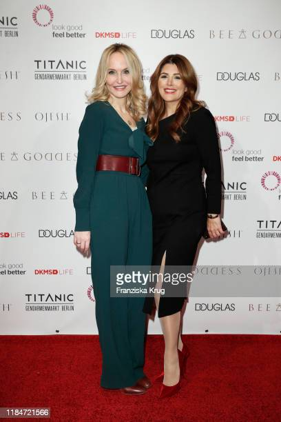 Anne Meyer-Minnemann and Sedef Ayguen during the Titanic Hotel and DKMS Life Christmas Charity Ladies Lunch on November 25, 2019 in Berlin, Germany.
