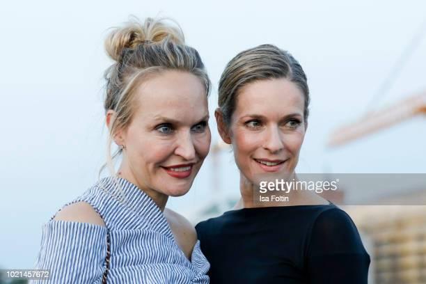 Anne MeyerMinnemann chief editor Gala magazine and German actress Lisa Martinek during the UFA Movie Nights reception at Bertelsmann Repräsentanz on...