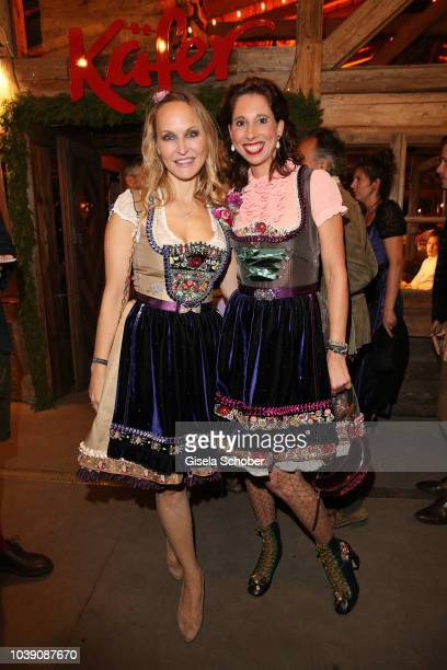 Anne MeyerMinnemann Dirndl Fashion designer Lola Paltinger during the 'Almauftrieb' as part of the Oktoberfest 2018 at Kaefer Tent at Theresienwiese...
