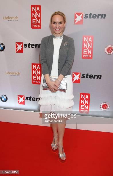 Anne MeyerMinnemann during the Henri Nannen Award red carpet arrivals on April 27 2017 in Hamburg Germany