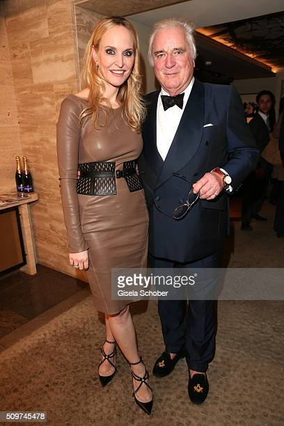Anne Meyer-Minnemann, editor in chief of Gala, and Clement von Franckenstein during the 'Berlin Opening Night of GALA & UFA Fiction' at Das Stue...