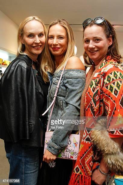 Anne Meyer-Minnemann, Kathrin Bruss and Jenny Falkenberg attend the Petra Teufel & GALA Fashion Night on May 20, 2015 in Hamburg, Germany.