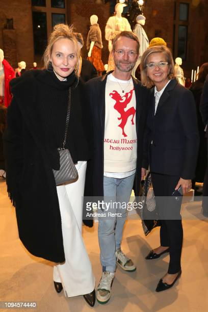Anne MeyerMinnemann Marcus Luft and Inga GrieseSchwenkow attend the Group Presentation during 'Der Berliner Salon' Autumn/Winter 2019 at St...