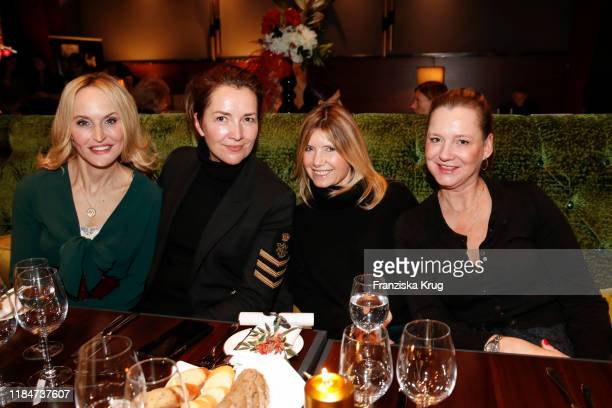 Anne Meyer-Minnemann, Martina Bovenkerk, Nicole Weber and Jenny Falckenberg during the Titanic Hotel and DKMS Life Christmas Charity Ladies Lunch on...