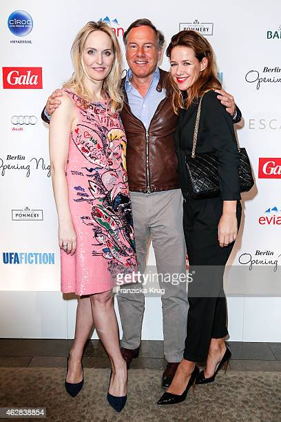 Anne Meyer-Minnemann, Nico Hofmann and Alexandra Neldel attend the 'Berlin Opening Night Of Gala & Ufa Fiction on February 05, 2015 in Berlin,...