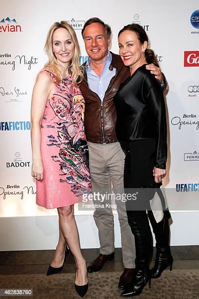 Anne Meyer-Minnemann, Nico Hofmann and Sonja Kirchberger attend the 'Berlin Opening Night Of Gala & Ufa Fiction on February 05, 2015 in Berlin,...