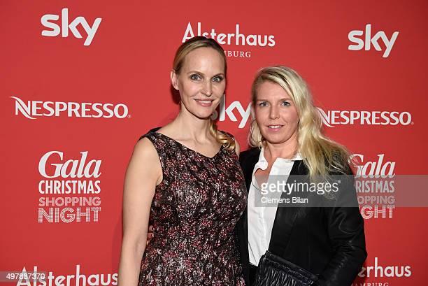 Anne MeyerMinnemann of Gala and Astrid Bleecker of Gala attend GALA Christmas Shopping Night 2015 at Alsterhaus on November 19 2015 in Hamburg Germany