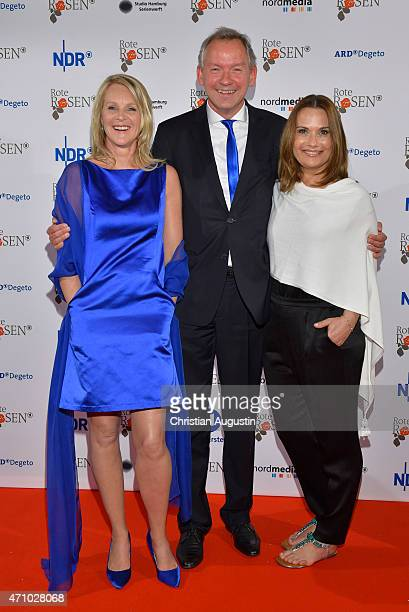 Anne Moll Lutz Marmor and Jenny Juergens attend the celebration of 2000 episodes of 'Rote Rosen' at Ritterakademie on April 24 2015 in Lueneburg...