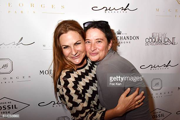 Anne Mondy and Esther Meyniel attend the 'MGeorges Restaurant' Opening Party Paris Fashion Week Womenswear Fall/Winter 2016/2017 on March 7 2016 in...