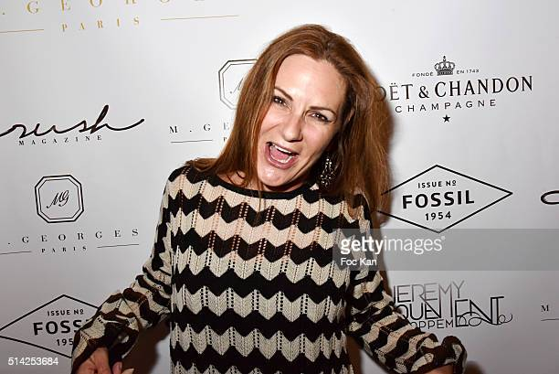 Anne Mondy attends the 'MGeorges Restaurant' Opening Party Paris Fashion Week Womenswear Fall/Winter 2016/2017 on March 7 2016 in Paris France
