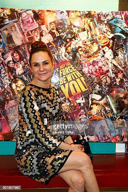 Anne Mondy daughter of actor Pierre Mondy attends 'Accords Croises' Anne Mondy's exhibition at Rue Bonaparte on December 17 2015 in Paris France