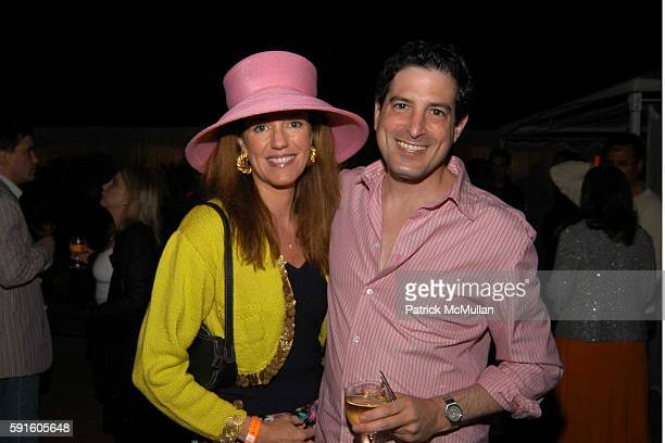 Anne Moore and David Stoll attend Cocktails in honor of Jeffrey Slonim and his 'Ebb and Flow' column in Hamptons Magazine at CAIN on June 4 2005