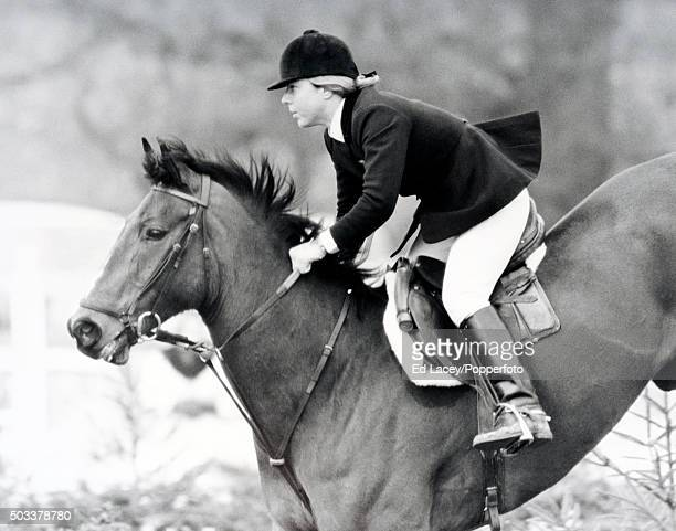 Anne Moore of Great Britain riding 'Psalm' at Hickstead 9th April 1971