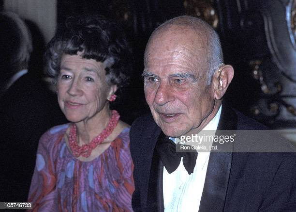 Anne Morrow Lindbergh and Jimmy Doolittle during Ist Annual Lindbergh Awards at Plaza Hotel in New York City New York United States