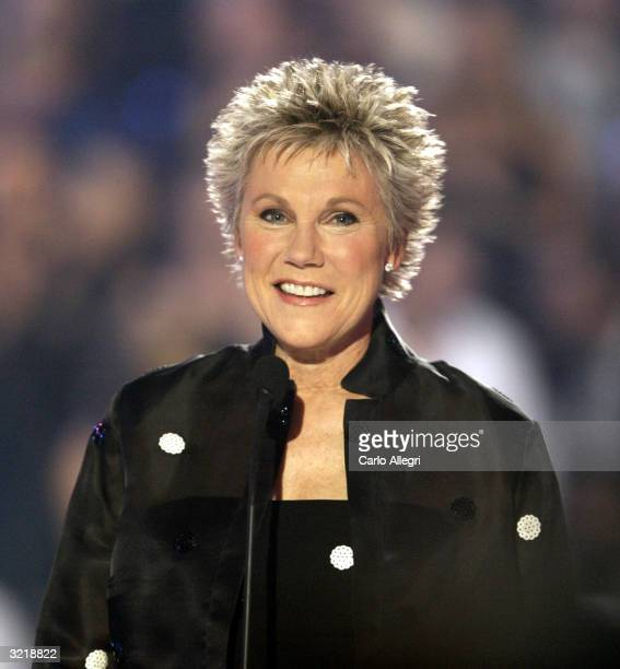 Anne Murray appears onstage at the 2004 Juno Awards at Rexall Place on April 4 2004 in Edmonton Alberta Canada The Junos celebrate excellence in...
