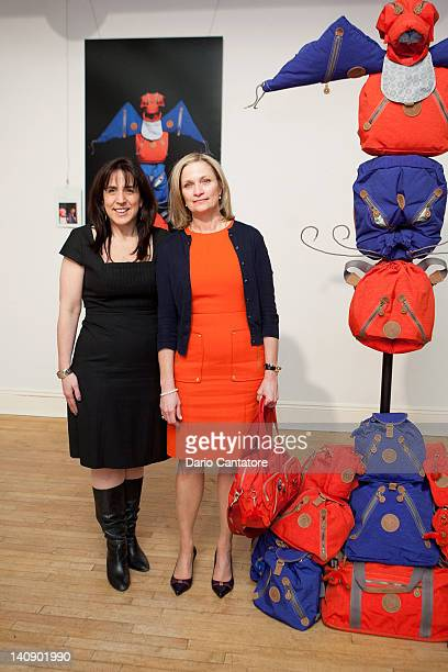Anne Nearman and Julie Dimperio attend Kipling's 25th Anniversary celebration at Helen Mills Event Space on March 7 2012 in New York City