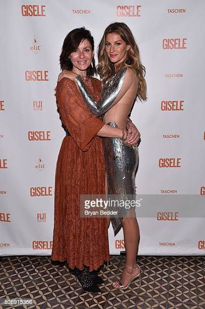 Anne Nelson and Gisele Bundchen attend the Gisele Bundchen Spring Fling book launch on April 30 2016 in New York City