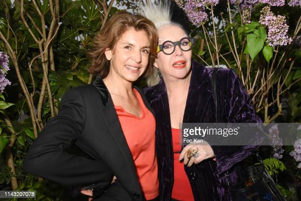 Anne Nivat and Orlan attends the La Closerie Des Lilas Literary Awards 2019 At La Closerie Des Lilas on April 16 2019 in Paris France