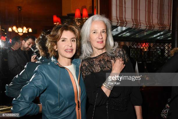 Anne Nivat and Tatiana de Rosnay attend 'La Closerie Des Lilas' Literary Awards 2016 At La Closerie Des Lilas on April 19 2017 in Paris France