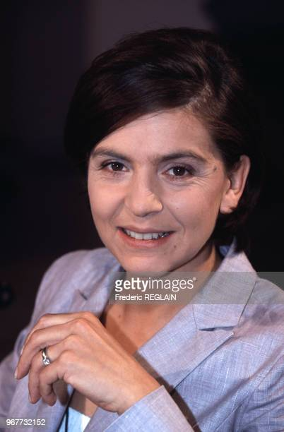Anne Nivat journaliste et romancière le 14 juin 2000 à Paris France