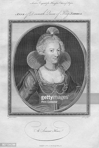Anne of Denmark Queen of King James I 1786 From Harrison's Edition of Rapin's History of England by Paul Rapin de Thoyras [John Harrison London 1786]...