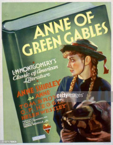 Anne Of Green Gables poster Anne Shirley 1934