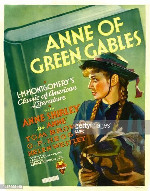 Anne Of Green Gables poster Anne Shirley on window card 1934