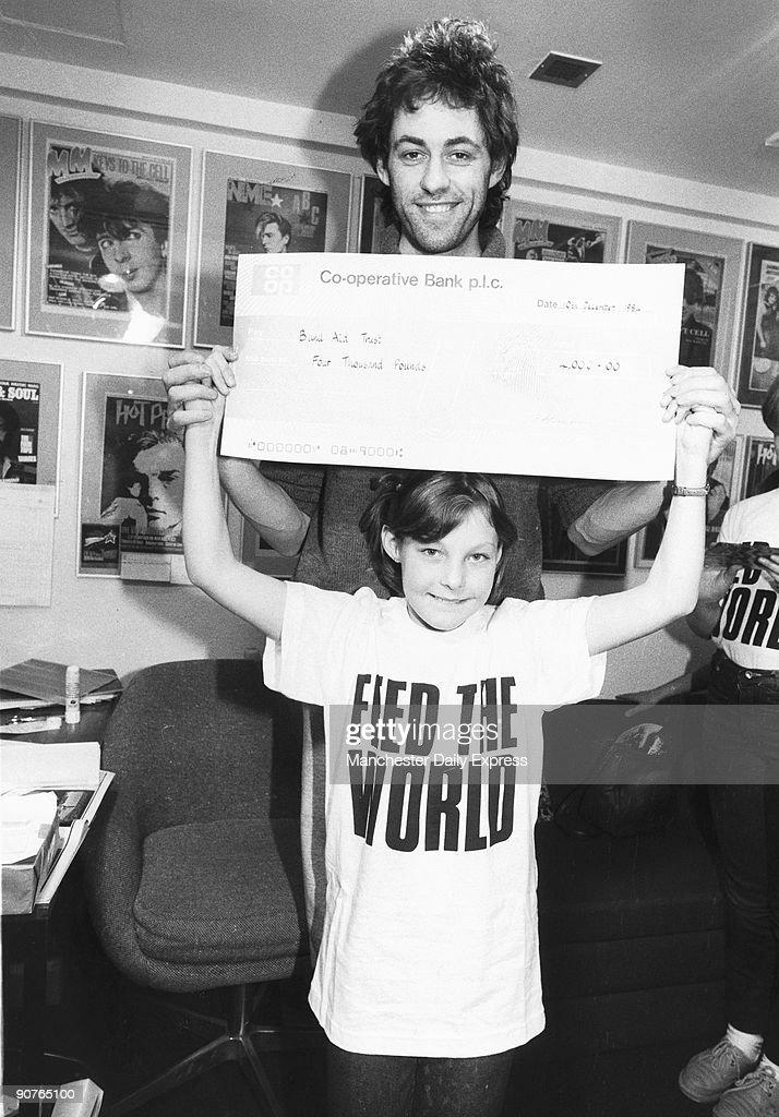 Bob Geldof with Anne Hutchins, December 1984. : News Photo