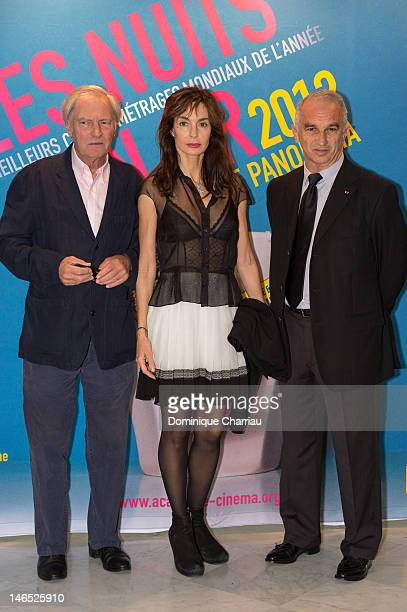 Anne Parillaud and Alain Terzian attend 'Panorama At Unesco Dinner' Hosted By Academie Des Cesar at UNESCO on June 18 2012 in Paris France