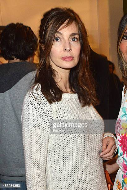 Anne Parillaud attends 'Charriol' Ephemeral Boutique opening hosted by Nathalie Garcon at Galerie Vivienne on April 28 2014 in Paris France