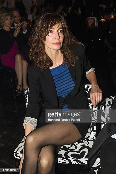 Anne Parillaud attends the Piaget Rose Day Private Event in Orangerie Ephemere at Jardin des Tuileries on June 13 2013 in Paris France