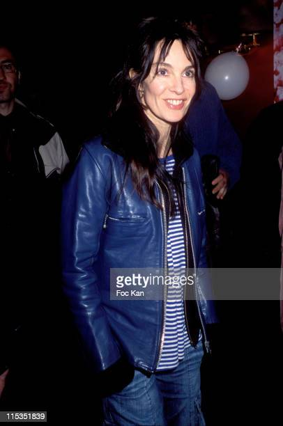 Anne Parillaud during Mariages Paris Premiere at Cinema Publicis Champs Elysees in Paris France