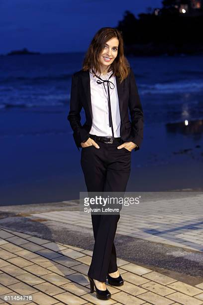Anne Parillaud poses for photographs at the photocall of the jury during the 27th Dinard British Film festival on September 29 2016 in Dinard France