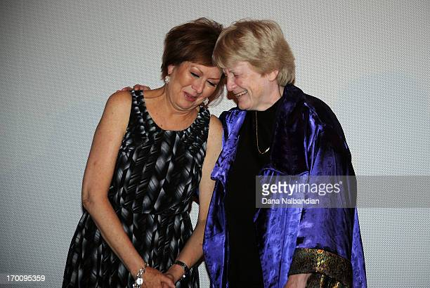 Anne Parker and doctor MaryClaire King meet for the first time at Seattle International Film Festival premiere of Decoding Anne Parker at Egyptian...