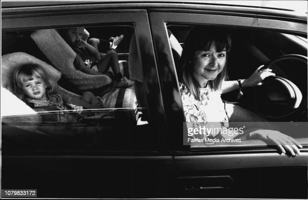 Anne Parsons with children Iain Sophie 2Anne and children with the small Family Car***** What am I supposed to do with my children Put them on the...