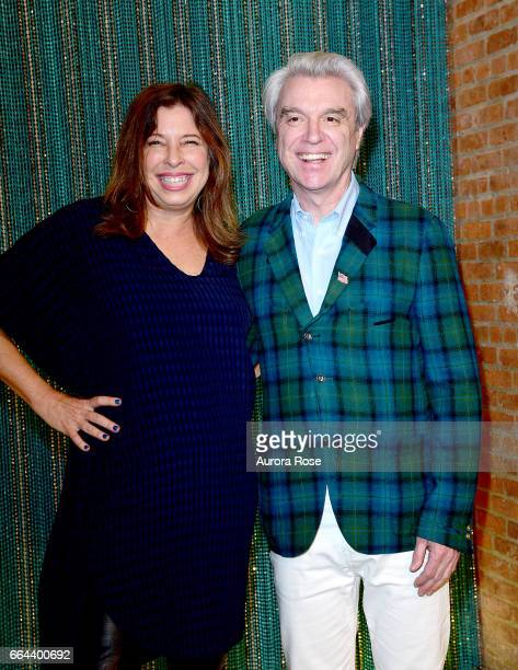 Anne Pasternak and David Byrne attend The Brooklyn Artists Ball 2017 at Brooklyn Museum on April 3 2017 in New York City