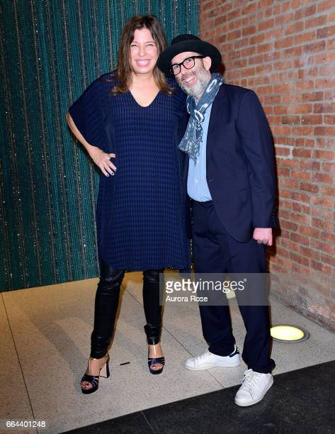 Anne Pasternak and Marc Schiller attend The Brooklyn Artists Ball 2017 at Brooklyn Museum on April 3 2017 in New York City