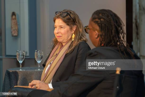 Anne Pasternak and Mickalene Thomas attend the AS IF Magazine Speaker Series With Audemars Piguet Brooklyn Museum on November 7 2018 in New York City