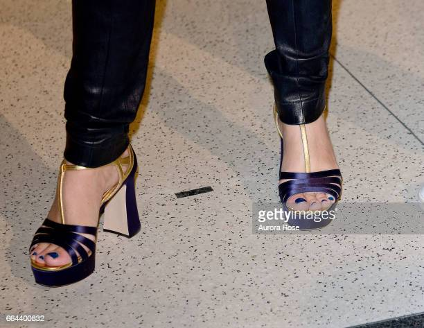 Anne Pasternak shoe detail at The Brooklyn Artists Ball 2017 at Brooklyn Museum on April 3 2017 in New York City