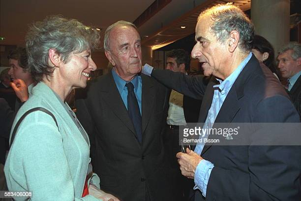 Anne Pingeot Andre Rousselet and JeanPierre Elkabbach at the screening of the film 'Conversation avec un President'