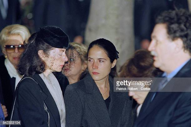 Anne Pingeot, Mazarine Pingeot, Danielle Mitterrand et Jean-Christophe Mitterrand.