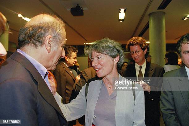 Anne Pingeot mistress of former French President François Mitterrand attends the screening of the documentary Conversations avec un President...