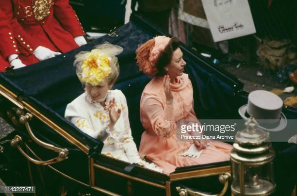 Anne, Princess Royal and Princess Margaret, Countess of Snowdon at the wedding celebrations of Prince Charles and Diana, Princess Of Wales, London,...