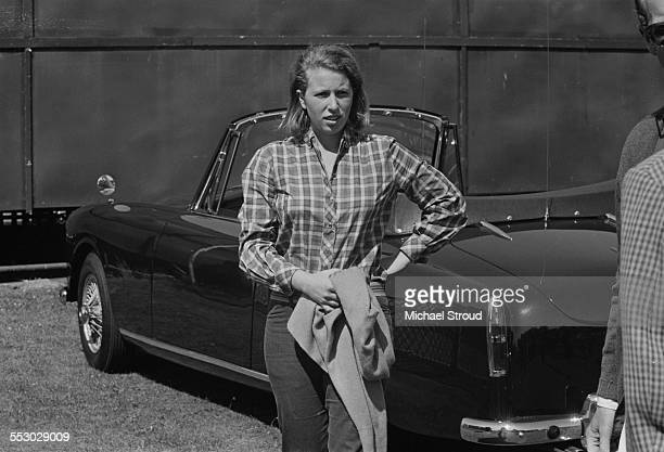 Anne, Princess Royal at Windsor Great Park to watch her father, Prince Philip, play polo, 9th July 1967.