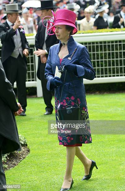 Anne Princess Royal attends day three of Royal Ascot at Ascot Racecourse on June 19 2014 in Ascot England