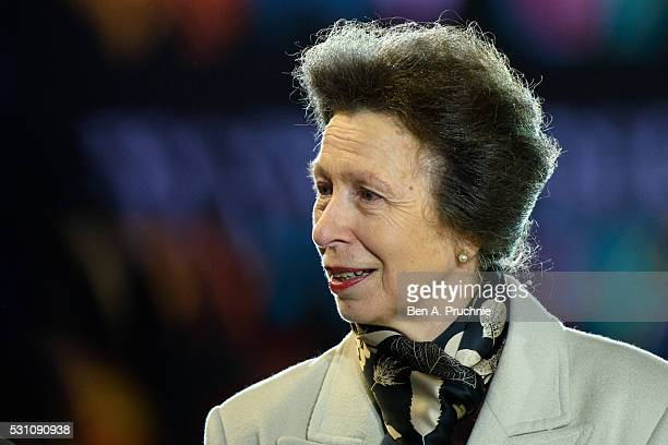 Anne, Princess Royal attends the opening night of The Queen's 90th Birthday Celebration at Windsor Castle on May 12, 2016 in Windsor, England. The...