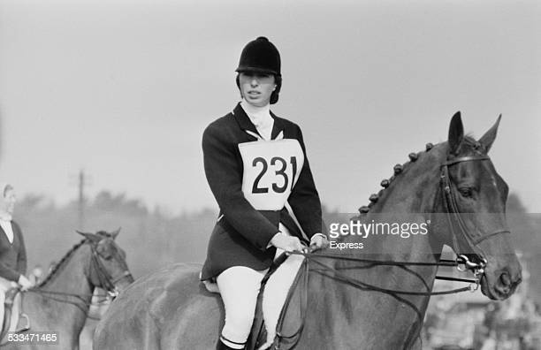Anne Princess Royal competing at the Cookham Horse Trials Berkshire 22nd March 1972