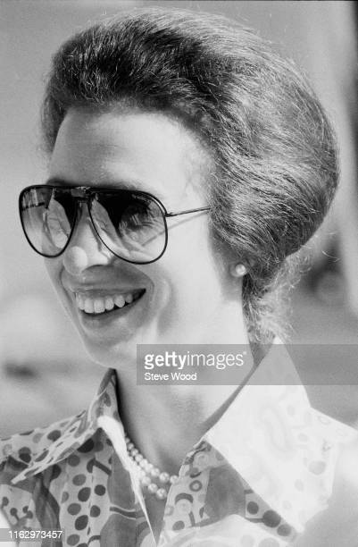 Anne Princess Royal wearing aviator style sunglasses UK 3rd December 1984