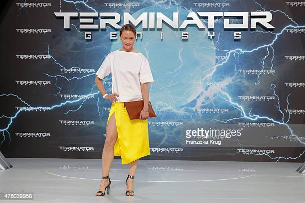 Anne RattePolle attends the European Premiere of 'Terminator Genisys' at the CineStar Sony Center on June 21 2015 in Berlin Germany